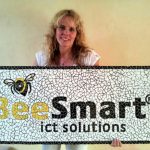 Logo in mozaiek voor Bee Smart ICT