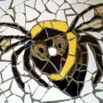 BeeSmart ICT logo in mozaïek - detail