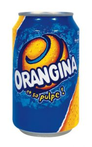 orangina logo in mozaiek